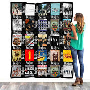 The Beatles Albums Blanket The Beatles For Fans Quilt Fleece Sherpa Throw