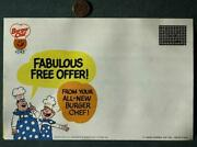 1973 Burger Chef And Jeff Fast Food Restaurant Free Super Shef Coupon Mailer-cute