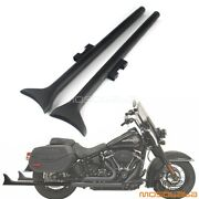 Pair 36 Motorcycle Fishtail Slip On Mufflers Exhaust Pipes For Harley Road King