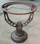Antique Cast Iron Industrial Steam Hot Water Heater Tank Stand