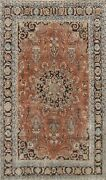 Floral Semi-antique Kashmar Area Rug Wool Hand-knotted Oriental Carpet 7x10 Red