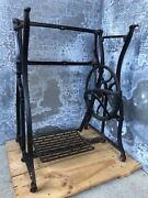 Vintage Wheeler And Wilson Treadle Sewing Machine Cast Iron Table Base