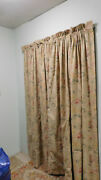 Vintage Francesca Drapes-lined-85 Long-+tiebacks- 3 Pairs Available