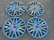 15 Custom Chrome Hubcaps Wheelcovers For Fiat 500 4 New Better Than Oem