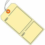 Aviditi Manilla Claim Tags Consecutively Numbered - Pre-strung 4 3/4 X 2 3/8