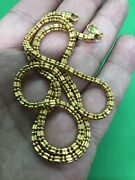 Antique Islamic Yazde Persian Style Amazing 22ct Yellow Gold Thick Chain Neckles