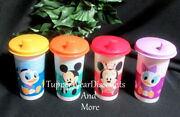 Tupperware New Disney Baby Toddler Bell Tumblers With Sippy Seals Lids 10.5 Oz