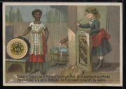 Victorian Trade Card 1880s J And P Coats Six Cord Black Thread Sewing Vtc-c128