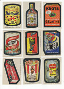 1974 Topps Wacky Packages 8th Series 8 Complete Sticker Set 30/30 Nm-