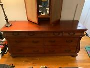 Matching Mahogany 2-piece Dresser And Bureau With Matching Lamps