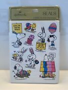 Hallmark Vintage Snoopy And Woodstock Easter Stickers/seals Factory Sealed Rare