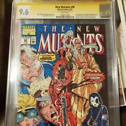 The New Mutants 98 Cgc 9.6 Signed By Rob Liefield