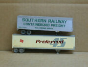 Walthers Ho 45' Preferred 45 And 40' Southern Railway Trailers