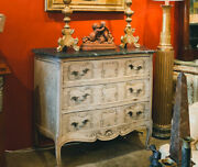 Early Century French Provincial Faux Marble Top And Louis Xvi Bleached Oak Dresser