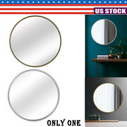 31.5and039and039 Wall-mounted Plane Mirror Round Makeup Vanity Mirror For Bedroom Bathroom