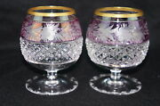 Ebeling And Reuss Marchioness Brandy Snifter Glass 2 Amethyst And Cranberry