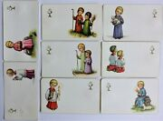 Lot Of 8 Old Religious Holy Cards. N. G. Basevi Italy Nos