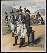 Victorian Trade Card 1880s J And P Coats Six Cord Thread Cotton Army Vtc-c193