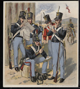 Victorian Trade Card 1880s J And P Coats Six Cord Thread Cotton Army Vtc-c192