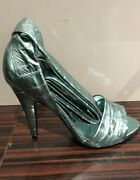 Tom Ford Nib 1490. Turquoise Open Toe Ankle Strap Hh Shoes 6.5