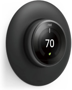 Nest Learning Thermostat Wall Plate Cover Double Coated Uv Resistant Matte Black