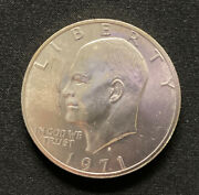 1971 S Liberty Eisenhower Us Dollar Coin. 40 Silver.  Nice Coin