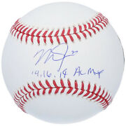 Mike Trout Signiert 14 16 19 Al Mvp Angels Baseball Mlb Authentisch