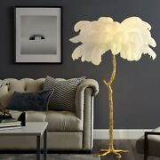 Ostrich Feather Luxury Standing Floor Lamp Lighting Living Room Bar Cafe Deco