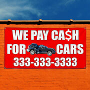 Vinyl Banner Sign We Pay Cash For Junk Cars With Image Style T Automotive Red