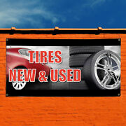 Vinyl Banner Sign Tires New Andused 1 Automotive Marketing Advertising Black