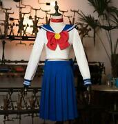 Begonia Sailor Moon Suit Water Ice Moon Clothes Cosplay Costume Female Anime Fio