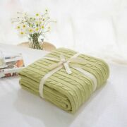 100 Cotton Blanket Soft Knitted Towel Comforter Home Plaid Bedding Bedclothes