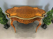 Fine Victorian French Console Centre Table Stunning Parquetry Marquetry Inlay