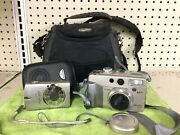 Canon Power Shot G2 And Canon Power Shot Sd550 With Cases
