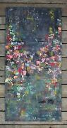 City Garden By Artist Jag Abstract Painting Multi-color Nature On Canvas