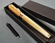Jinhao Fountain Pen Nib 18k Gold Plated Gold Mesh Suction Type New Unused