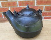 Antique 1871 Tennessee Agricultural Works Nashville Cast Iron Water Kettle