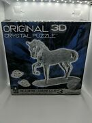 Original 3d Crystal Puzzle - Horse 31057 Brand New Open Box - See Pictures