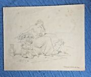 Original Sketch By Hablot Knight Browne And039phizand039 Dickens Illustrator Woman Babies