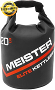 Meister Elite Portable Sand Kettlebell - Soft 15 Pounds 6.8kg Black