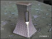 Dunhill Silver Antique Desk Lighter Complete Overhaul And Stored Size 35x43x75mm