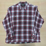 Rrl Shirt Vintage 90s Check Rayon Size M Mens Used Double Rl