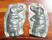 Vintage Chocolate Mold Anton Reiche Circus Elephant Sitting Up Uncommon 6 Inches