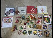 Vintage Boy Scout Lot Patches Badges Bandanas From The 1970s