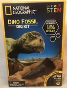 National Geographic Stem Dino T-rex Fossil Tooth Poop Dig Learn Science Kit New