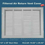 Filtered Return Vent Cover 12 X 24 Duct Size Air Grille Wall Ceiling White