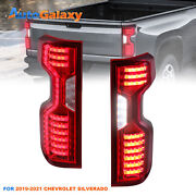 Pair Full Led Red Clear Tail Lights For 2019-21 Chevrolet Chevy Silverado Lh+rh