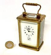 Antique Miniature Dent London Brass Carriage Clock With Alarm L'epee Movement