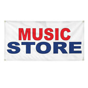 Vinyl Banner Multiple Sizes Music Store Red Blue Lifestyle Outdoor