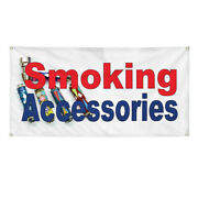 Vinyl Banner Multiple Sizes Smoking Accessories Red Blue Business Outdoor
